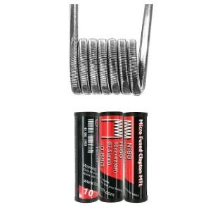 Résistances Micro Fused Clapton MTL Ni80 (30*2+42GA) 0.88ohm Fumytech